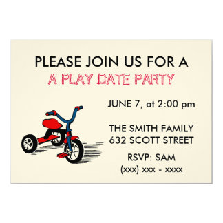 A Play Date Party Invitation