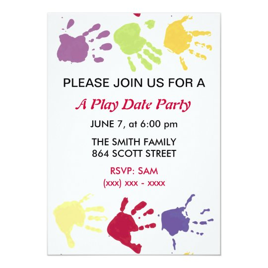 A Play Date Party Kids Invitation Zazzle Com