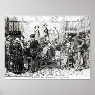 A Play in a London Inn Yard Poster