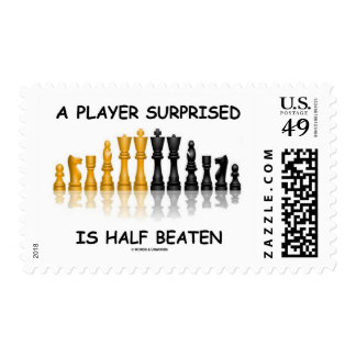 A Player Surprised Is Half Beaten (Chess Attitude) Stamp