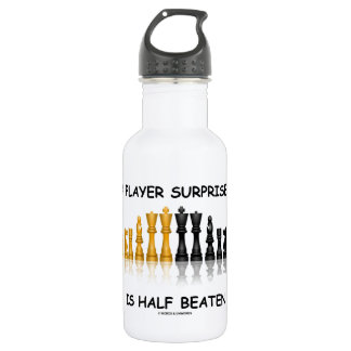 A Player Surprised Is Half Beaten (Chess Attitude) Water Bottle
