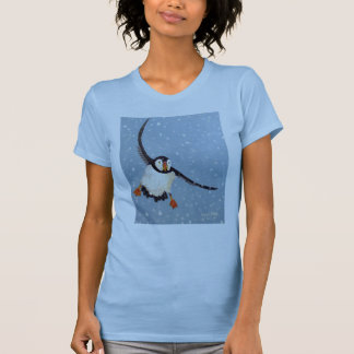 """A Playful Puffin"" Ladies Twofer Sheer Tee"