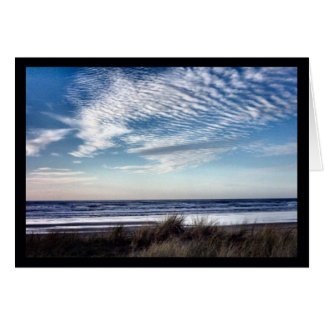 A Pleasant Winter Afternoon at the Beach Greeting Card