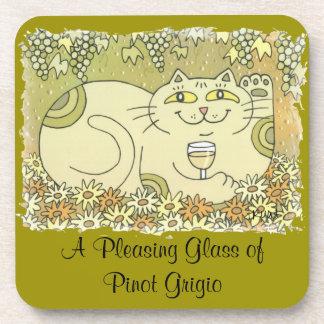 A Pleasing Glass of Pinot Grigio Coaster
