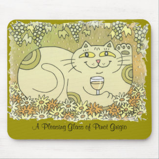 A Pleasing Glass of Pinot Grigio Mouse Pad