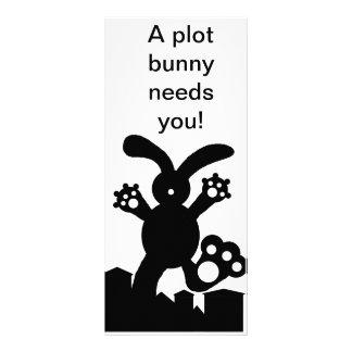 A plot bunny needs you! Book marks Rack Card