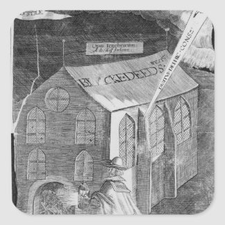 A Plot with Powder, 1605 Square Sticker