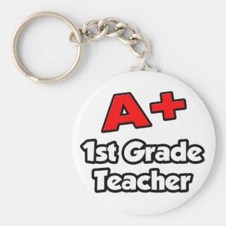 A Plus 1st Grade Teacher Keychain