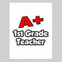 A Plus 1st Grade Teacher Postcard