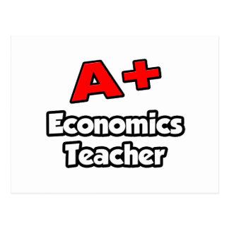 A Plus Economics Teacher Postcard