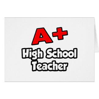 A Plus High School Teacher Card