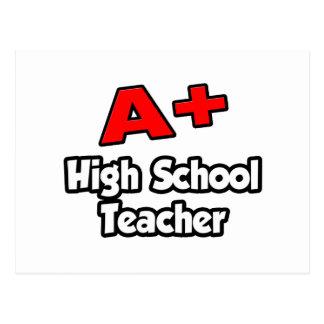 A Plus High School Teacher Postcard