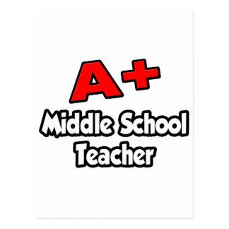 A Plus Middle School Teacher Post Cards