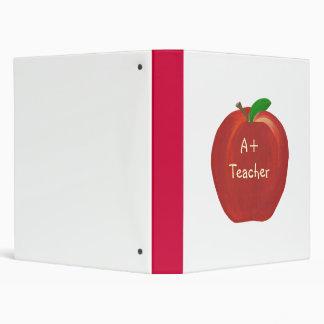 A Plus Red Apple Teacher Binders