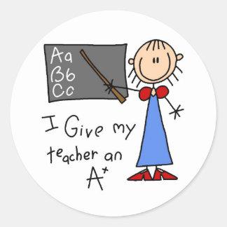 A Plus Teacher Classic Round Sticker