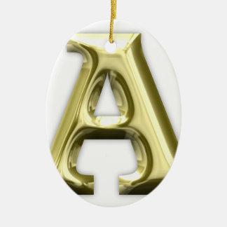 A.png Ceramic Ornament