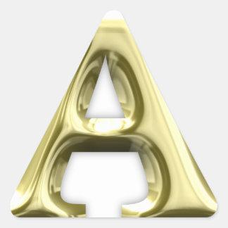 A.png Pegatina Triangular