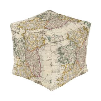 A pocket companion of Ireland Cube Pouf
