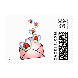 A POCKET FULL of HEARTY LOVE BUGS by SHARON SHARPE Postage
