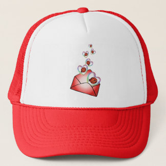 A POCKET FULL of HEARTY LOVE BUGS by SHARON SHARPE Trucker Hat