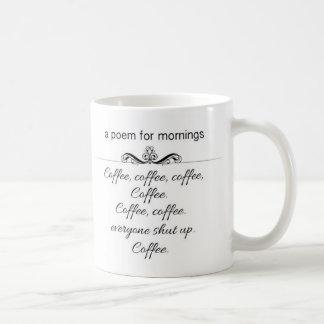 A Poem for Mornings Mug