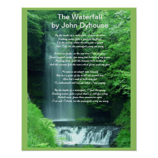 A Poem: The Waterfall Poster