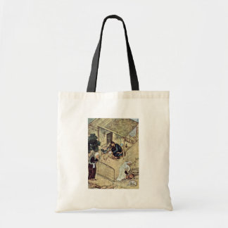 A Poet And Dervish In The Domestic Scene Detail By Tote Bag
