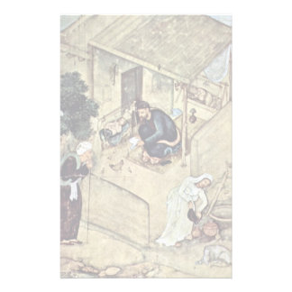 A Poet And Dervish In The Domestic Scene Detail By Stationery Paper