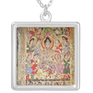 A Poet Singer, Musicians and Singers Square Pendant Necklace