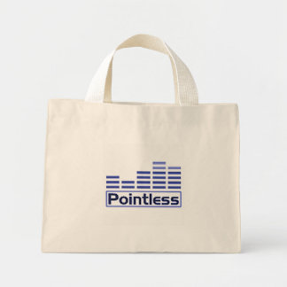A Pointless Music Player Tote Bags