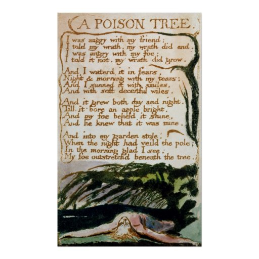 A Poison Tree, from Songs of Experience Poster