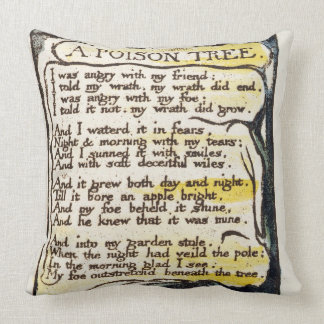 'A Poison Tree', plate 50 (Bentley 49) from 'Songs Throw Pillow