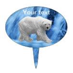 A polar Bear at the frozen waterfall Cake Picks