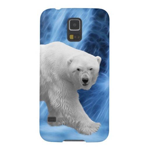 A polar Bear at the frozen waterfall Galaxy S5 Cases