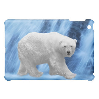 A polar Bear at the frozen waterfall Case For The iPad Mini