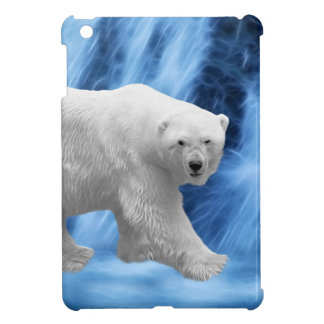 A polar Bear at the frozen waterfall iPad Mini Covers