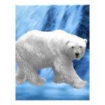 A polar Bear at the frozen waterfall Custom Letterhead