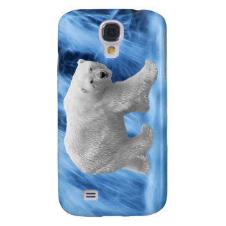 A polar Bear at the frozen waterfall Samsung Galaxy S4 Cover