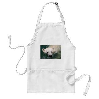 A polar bear just chilling adult apron
