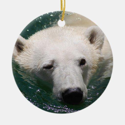 A polar bear just chilling christmas tree christmas tree ornament