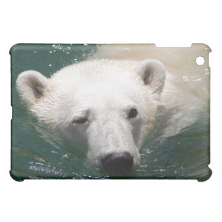 A polar bear just chilling iPad mini cases