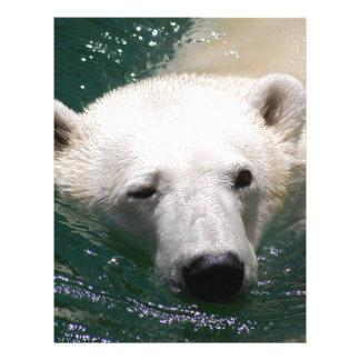 A polar bear just chilling letterhead