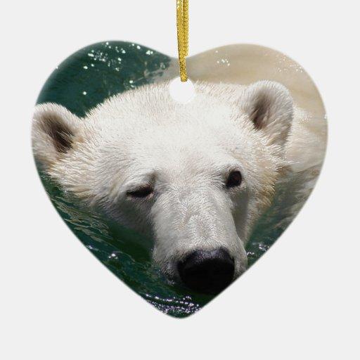 A polar bear just chilling christmas tree ornaments