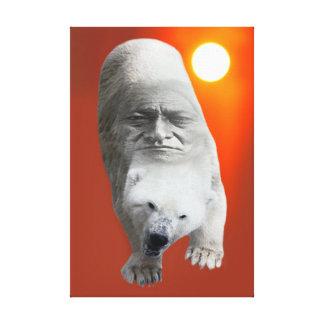 A polar bears sacredness and plight canvas print