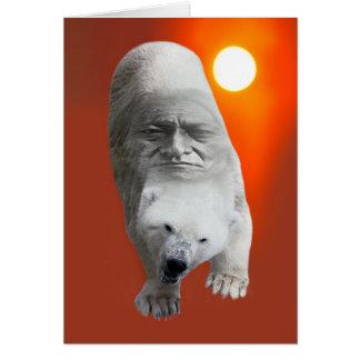 A polar bears sacredness and plight card