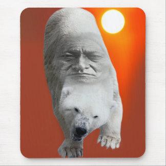 A polar bears sacredness and plight mouse pad