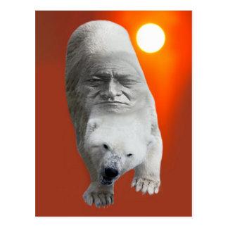 A polar bears sacredness and plight postcard