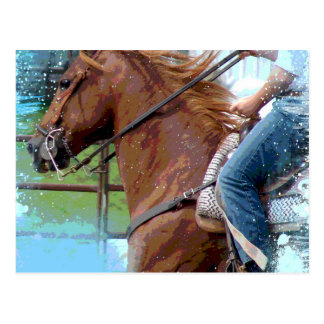 A Pole Bending Horse Postcard