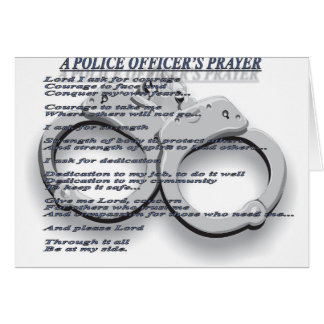 A POLICE OFFICER'S PRAYER GREETING CARDS