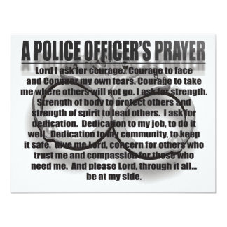 A POLICE OFFICER'S PRAYER CARD